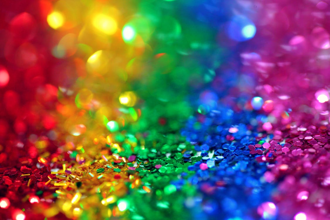 colorful glitter