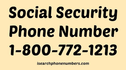 Social security office 1 800 number