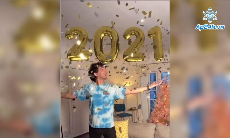 Hiệu ứng AR Chúc mừng năm mới 2021 của TikTok