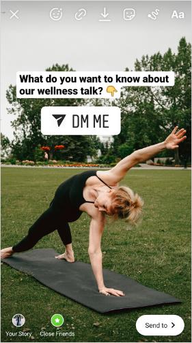 """Как использовать стикер """"Напиши мне"""" бизнесу и блогерам"""