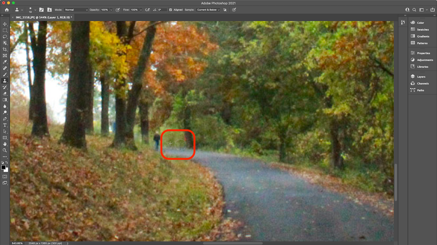 Screenshot of adjusting Clone sources in Photoshop.