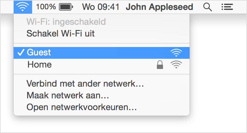 Zoek wifi naam op mac computer