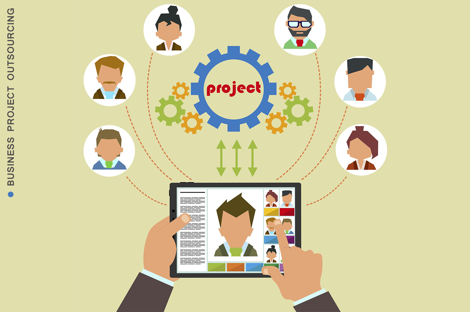business project outsourcing: perfect for those who can manage people