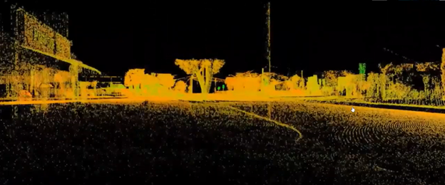 3D Laser Scan of motor vehicle collision site