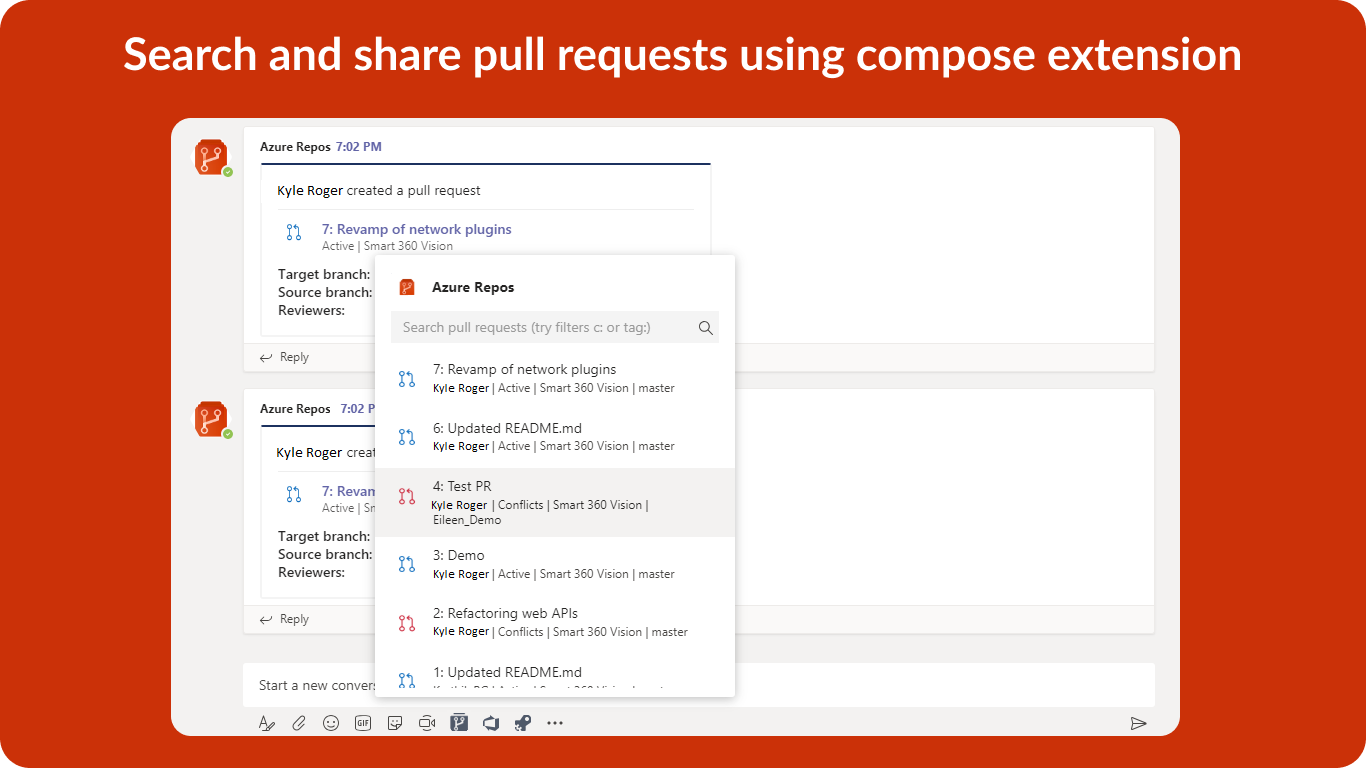 Azure Repos App for Teams