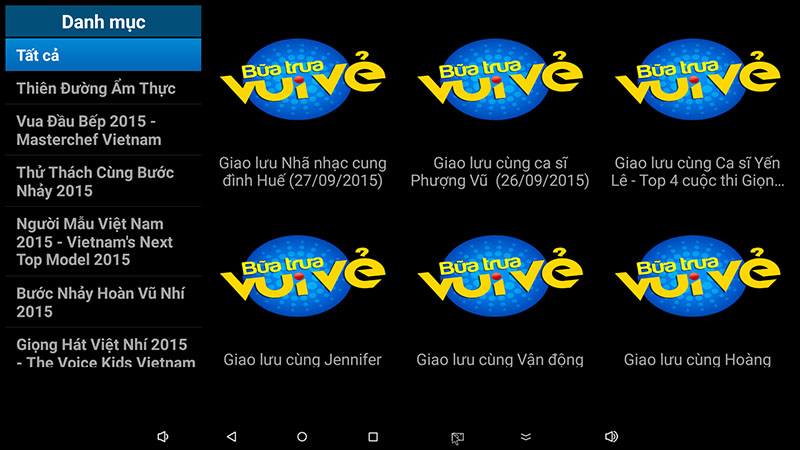 flytv android tv box ung dung xem truyen hinh tivi online mien phi flytvbox - xem tv show