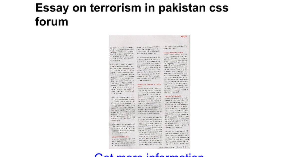 essay on terrorism in css forum google docs