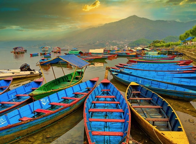 Boats lying at the edge of Phewa lake| Best Honeymoon Destination for Couples