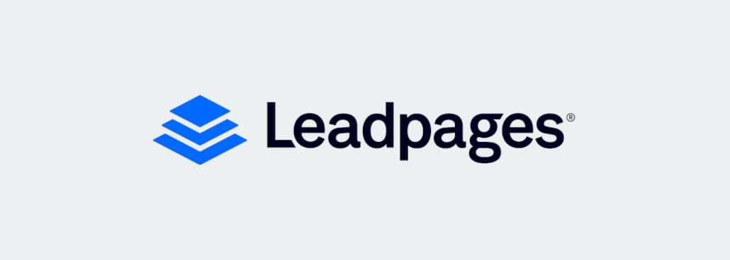 Leadpages image on grey background.