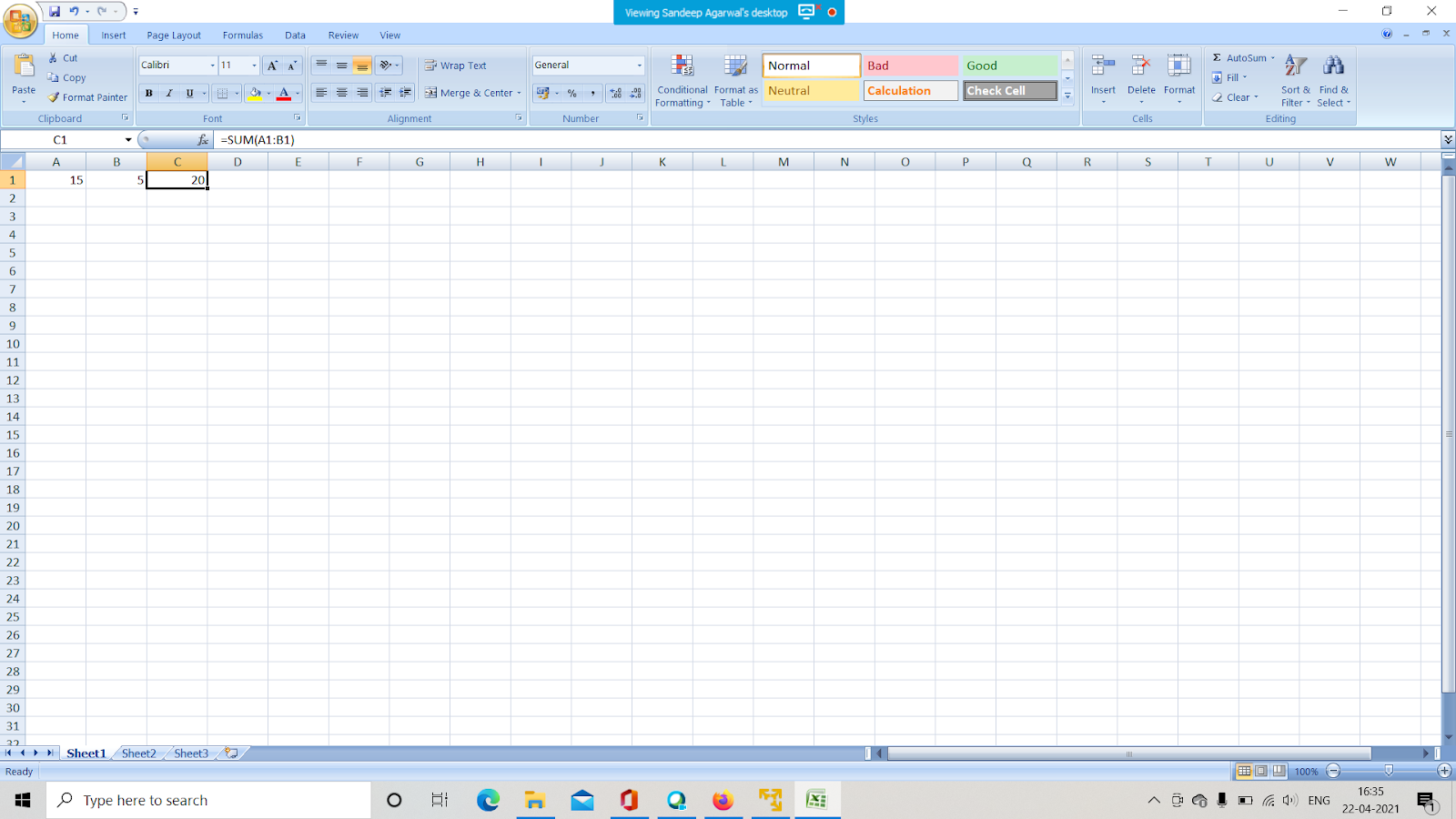 HOW TO ADD TWO NUMBERS IN EXCEL USING FORMULA