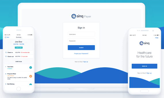 Login page of Sinq