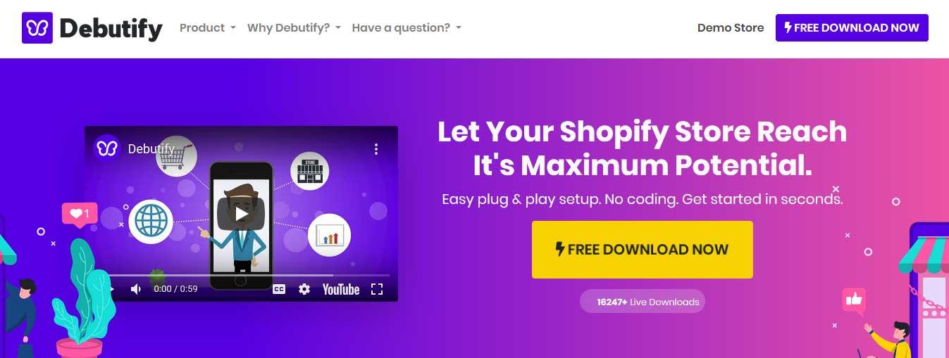Free Shopify themes Debutify