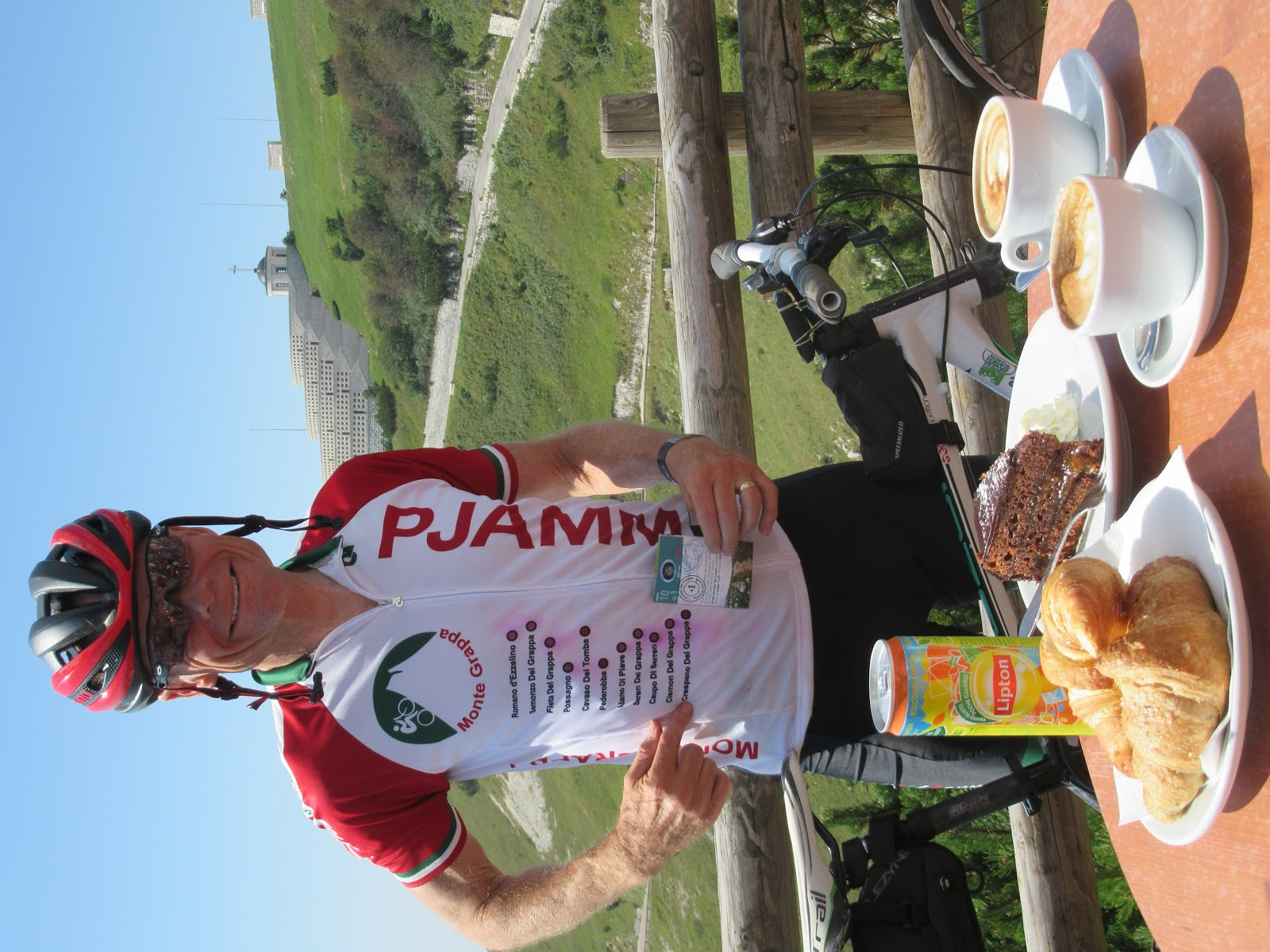 Cycling Monte Grappa from Crespano - John Johnson PJAMM Cycling - 11 Monte Grappa climbs in 6 days