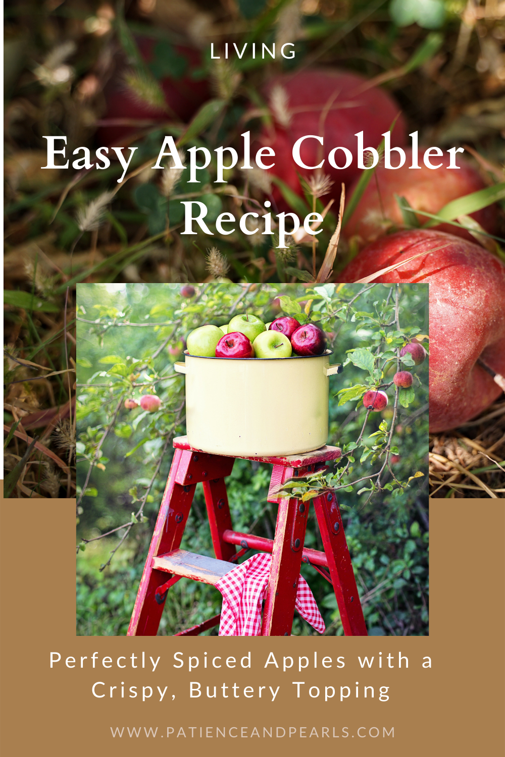 Easy Apple Cobbler Recipe - Pinterest - Patience & Pearls