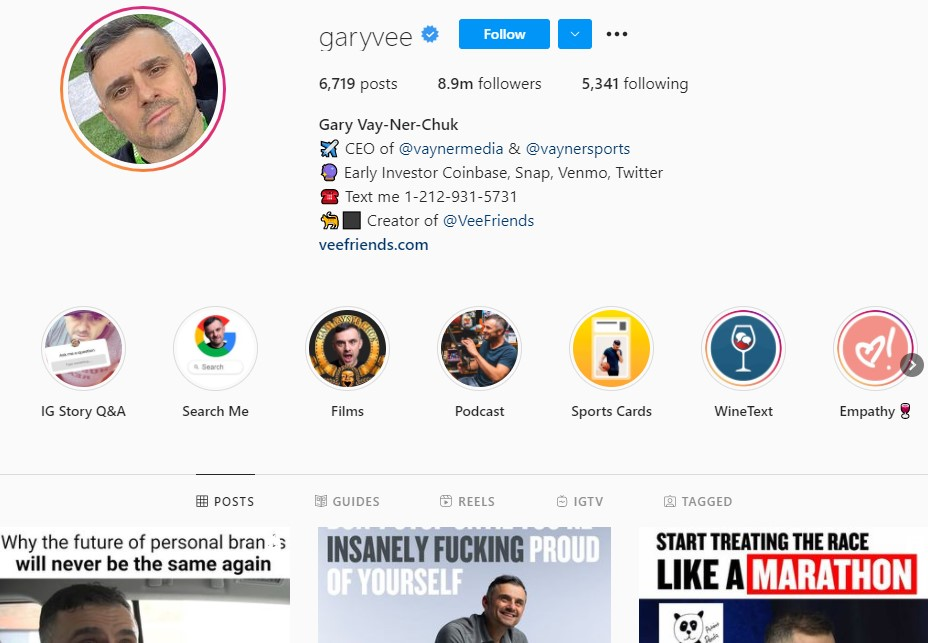 How one can use Gary Vee's fans to growth hack their email list.