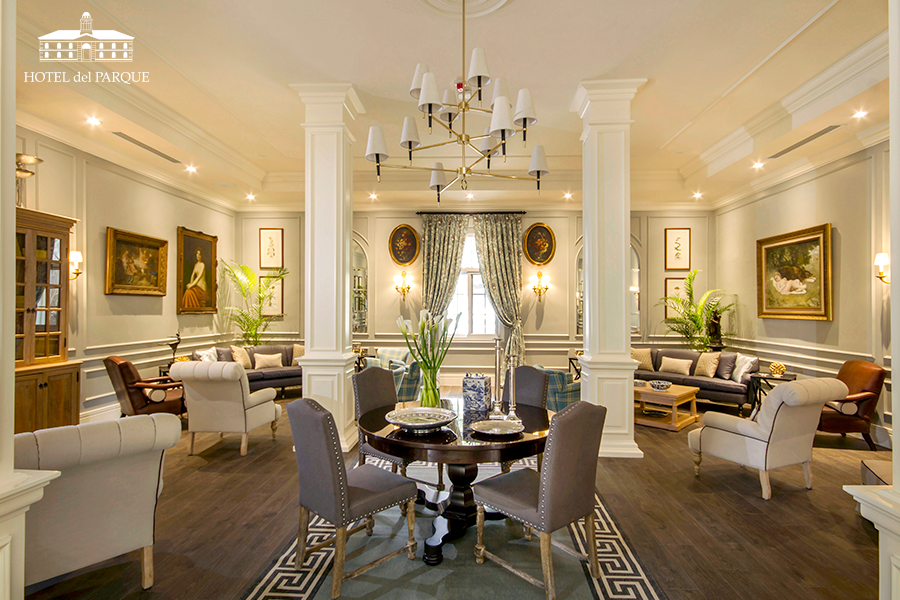 Luxury Lounge in the Hotel del Parque a Relais & Chateaux Hotel in the center of Guayaquil