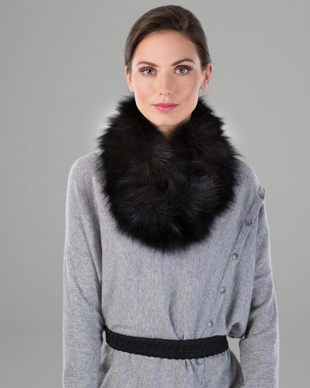 Fox Fur Knit Neck Loop