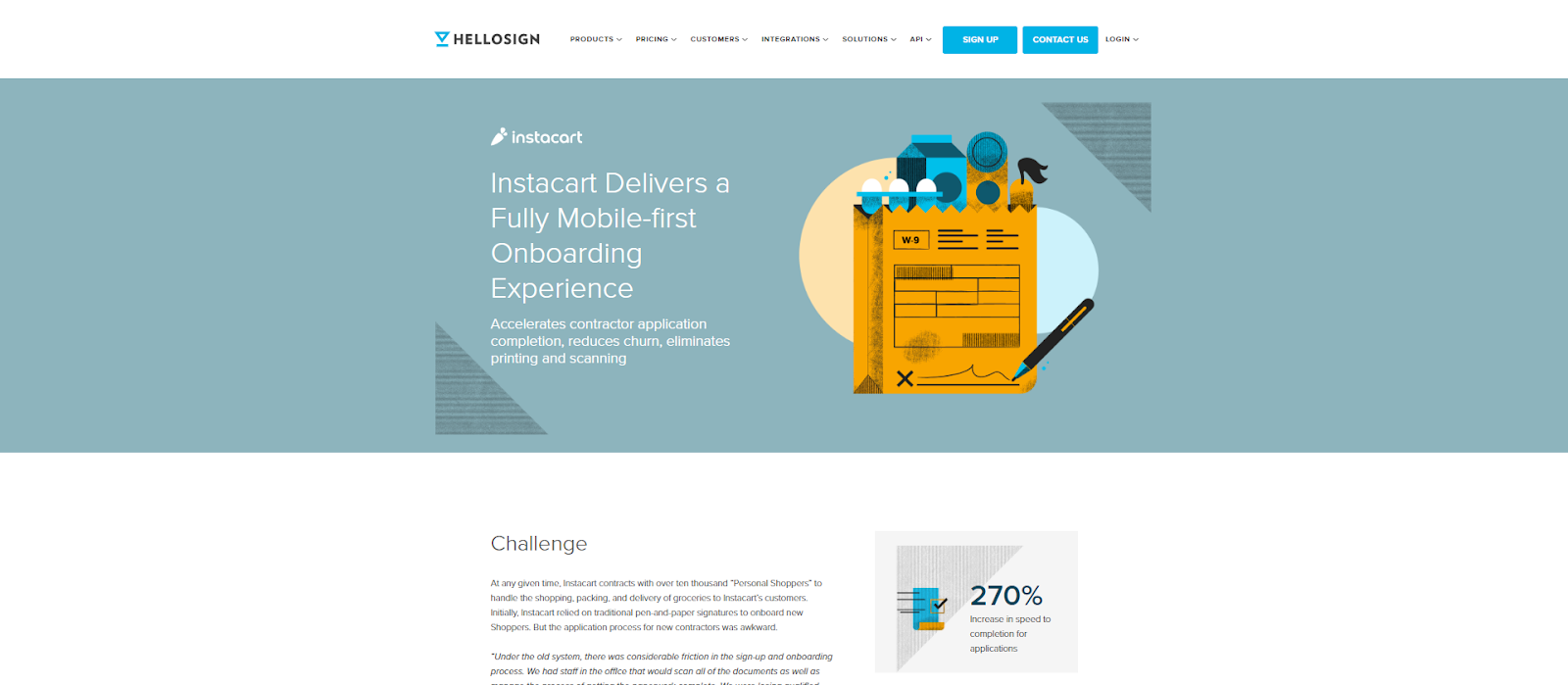 HelloSign's case studies were critical for driving conversions throughout the funnel.