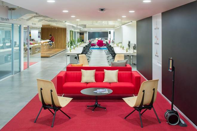 This is a image of Hike office in Delhi, India. Hike was the first unicorn social media startup in India
