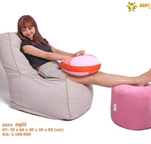 Ghế lười hạt xốp BabyDream sẽ giúp bạn thoát khỏi nỗi lo đau mỏi khi ngồi lâu