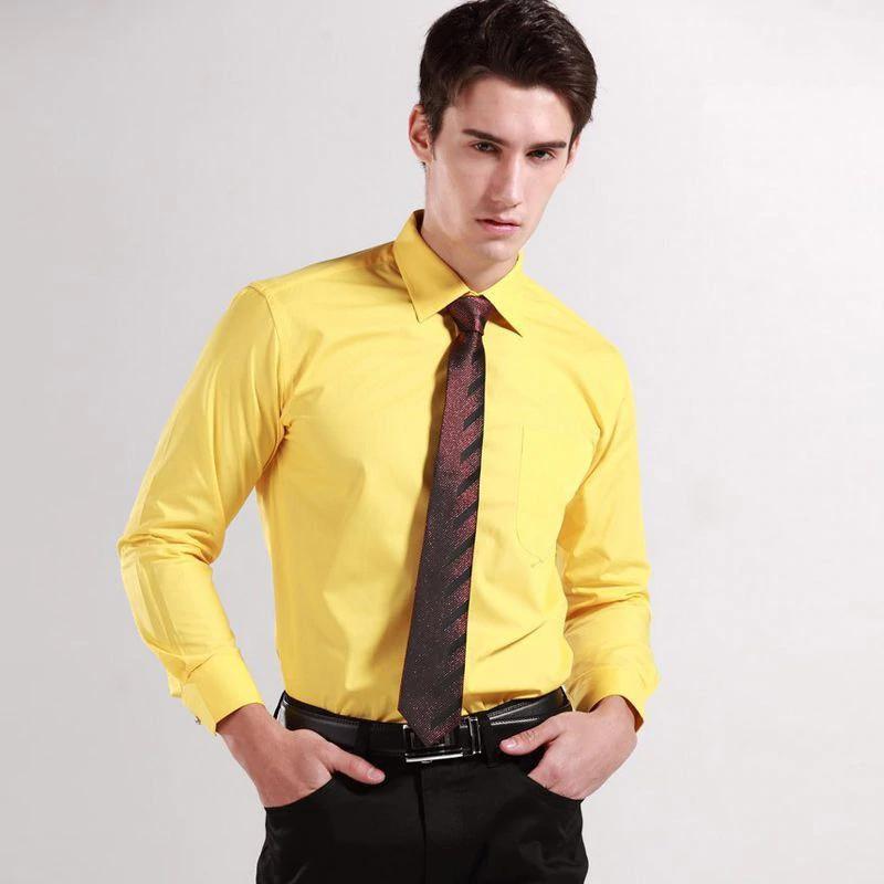 Áo sơ mi màu vàng tươi cho chàng thêm tươi tắn