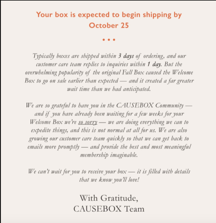 shipping delay email template 5