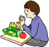 picture of child having lunch