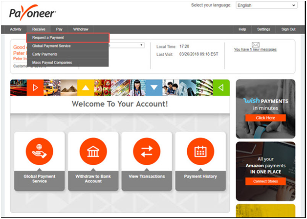 Payoneer Transfer and Billing Options