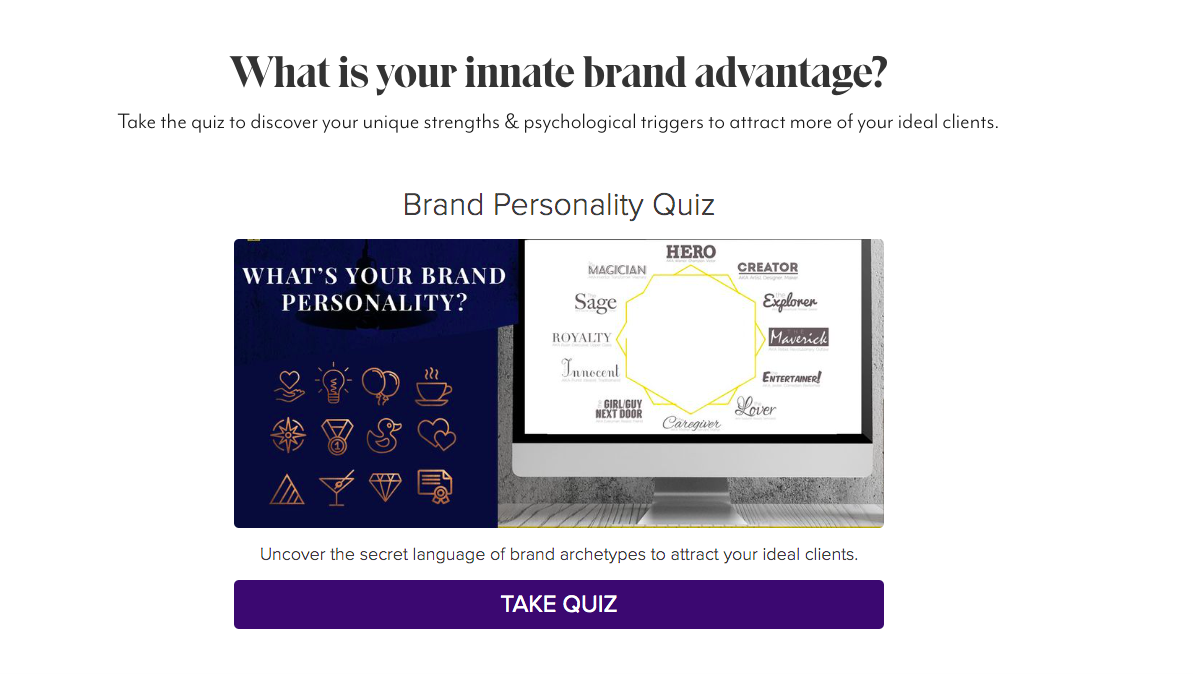What's your innate brand advantage quiz cover