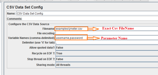 How to do Parameterization in JMeter using CSV? | Humble Bits