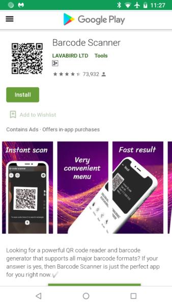 Barcode Scanner QR kodu nolasīšanas lietotne