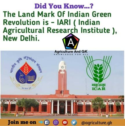 Image result for green revolution and IARI