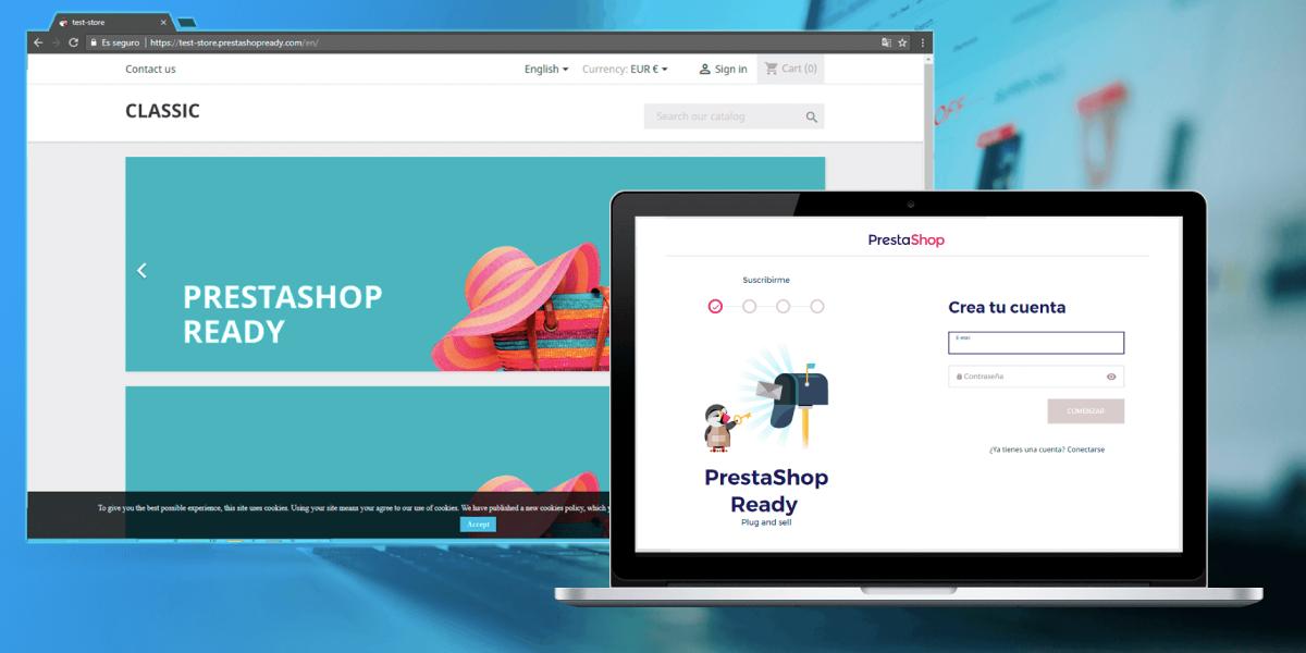 Sitio web de PrestaShop