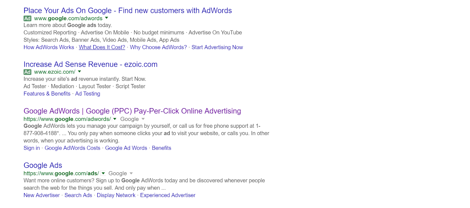 A company in Phoenix can purchase ads on Google separate from SEO..PNG