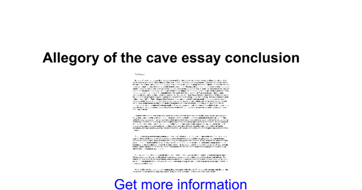 allegory of the cave essay conclusion google docs