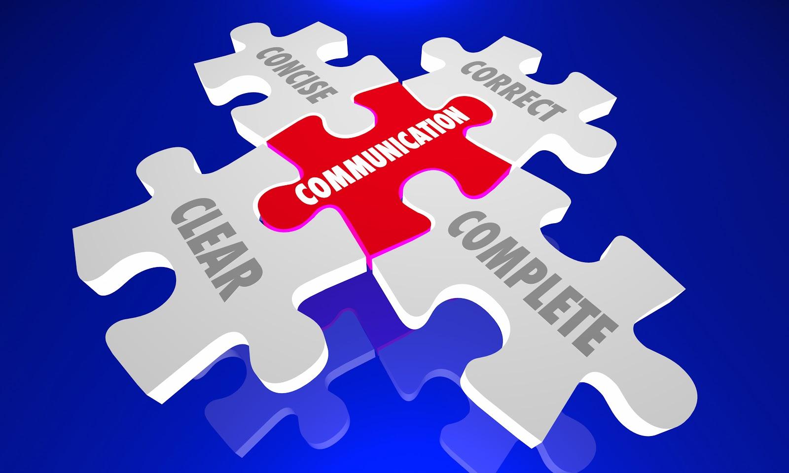 Puzzle showing good communication principles