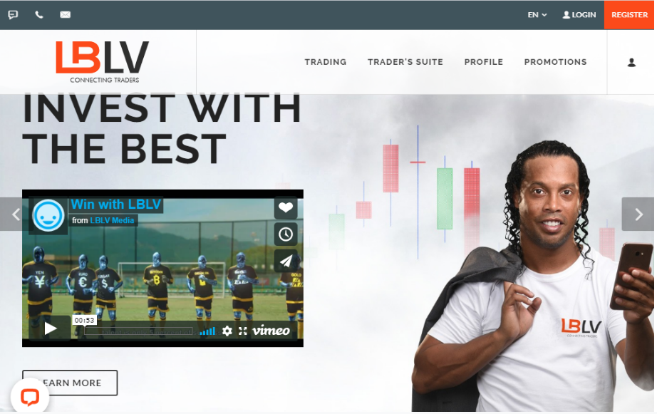 Screenshot of LBLV's homepage