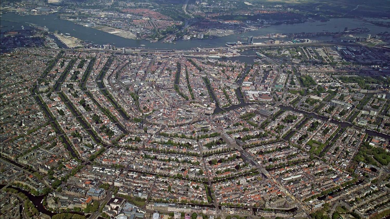 Амстердам с высоты птичьего полета