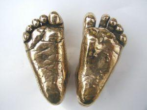 An example of our bronze foot casts