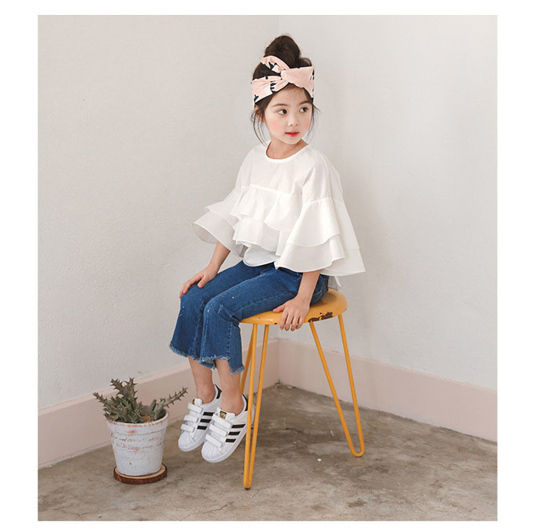 cotton ruffles white kids girls blouses and shirts baby teenage girl blouse designs shirts autumn summer tops girls clothes  4 5 6 7 8 9 10 11 12 13 14  years old little big teenage girls spring and summer girls blouses (5)