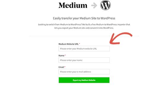 Nhập URL blog trung bình của bạn