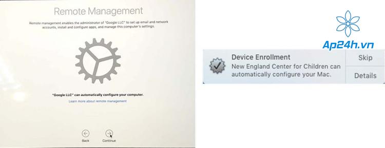 MacBook dính MDM