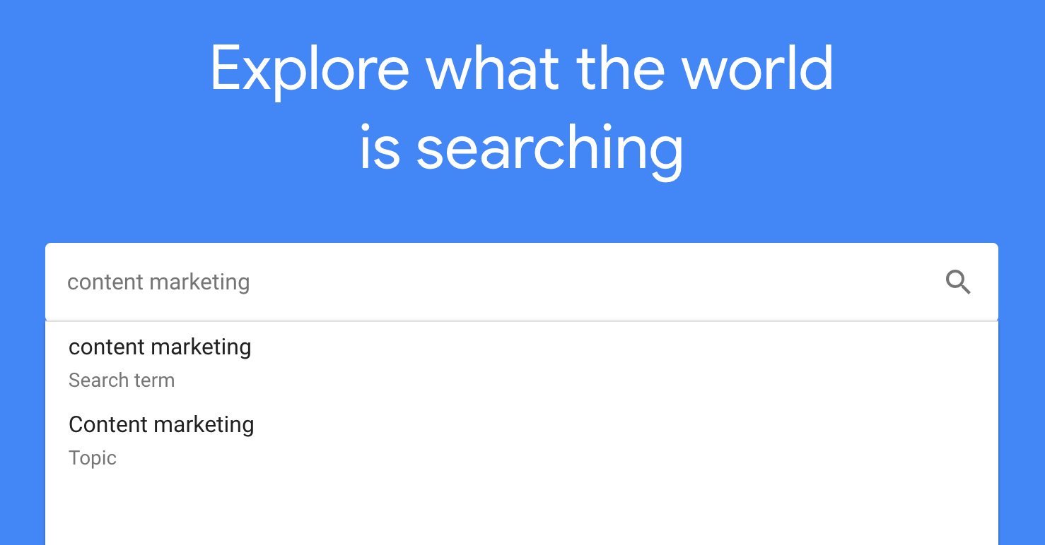 google trending topic
