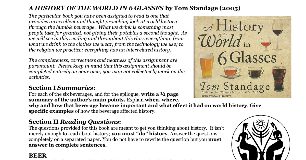 a history of world in 6 glasses answers