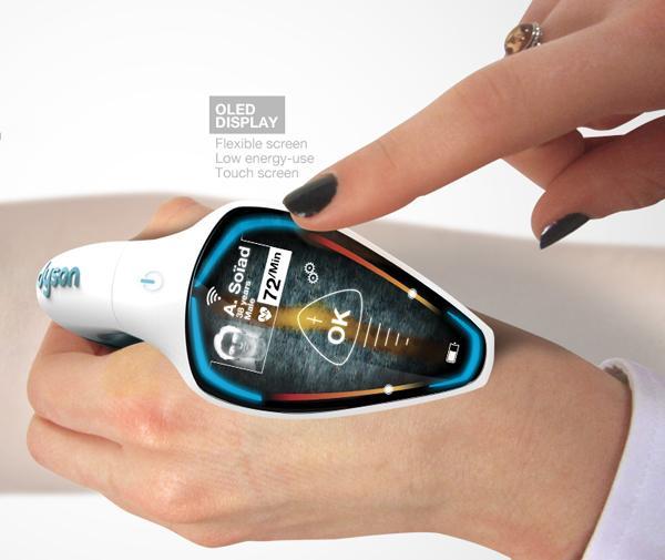 Гаджет оснащен удобным гибким OLED-дисплеем