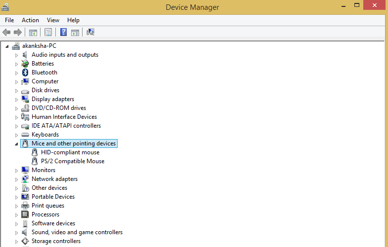 Uninstall and Reinstall Mouse Driver in Windows 10