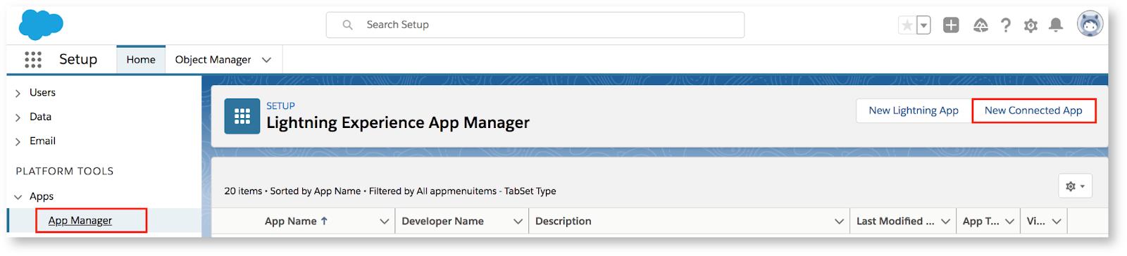 Salesforce Lightnening app manager