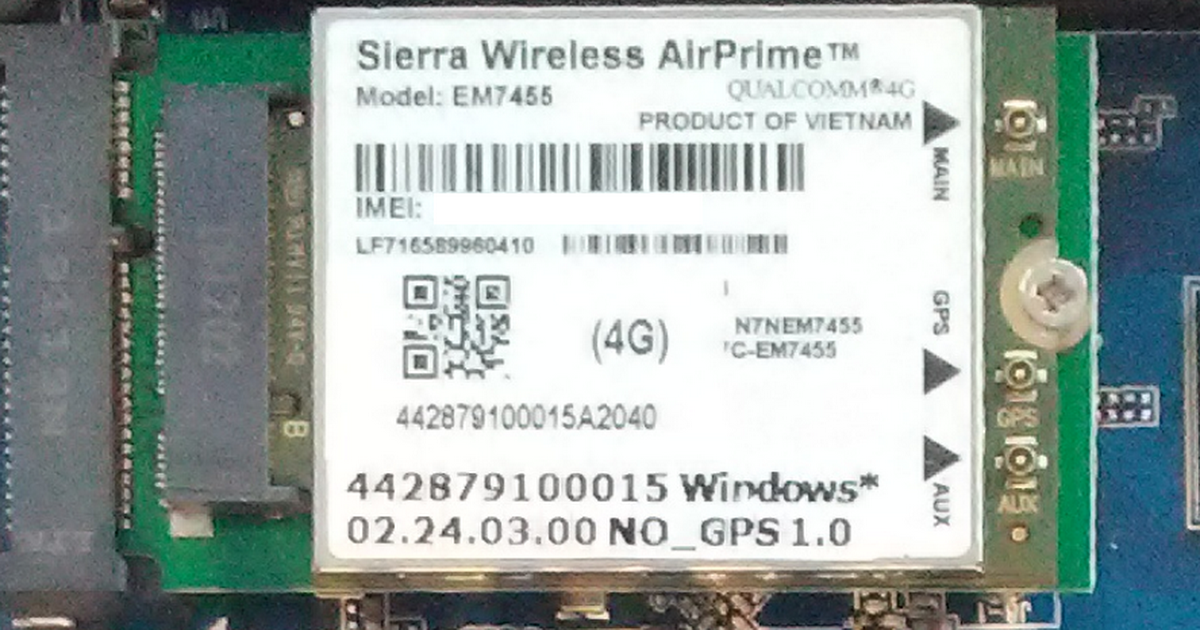 Sierra EM7455 no recognized on router WE826[16M] with