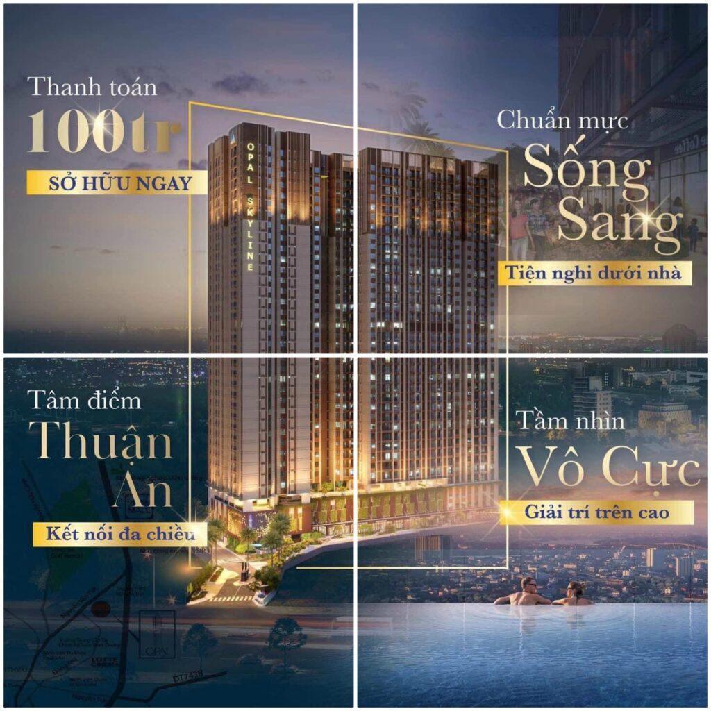 Căn hộ Opal Skyline Thuận An Bình Dương - Căn Hộ Xanh