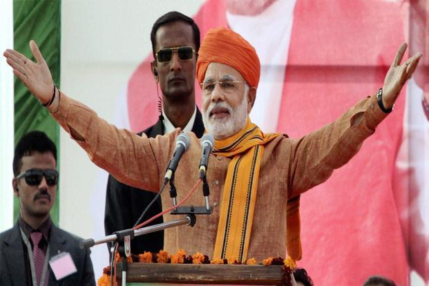 Narendra Modi (BJP) wins 2014 Lok Sabha Elections.